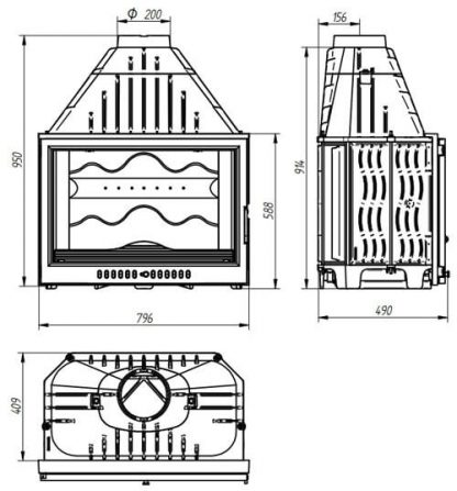 Топка 801 piano (Ferlux)