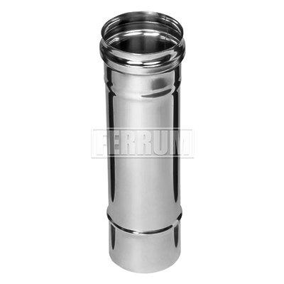 Дымоход Ф 100 L-0,25м (430/0,5мм) Ferrum