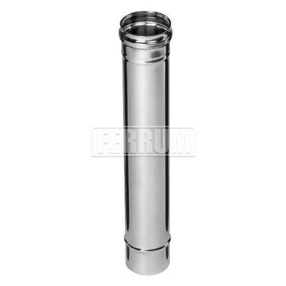 Дымоход Ф 100 L-0,5м (430/0,8мм) Ferrum
