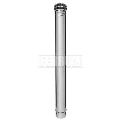 Дымоход Ф 100 L-1,0м (430/0,8мм) Ferrum