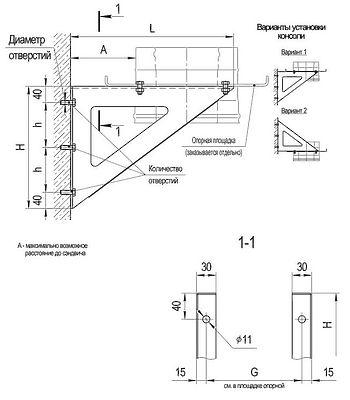 Консоль (нерж. сталь 2 шт) 2