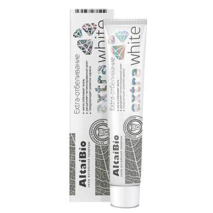 """AltaiBio Зубная паста с активными микрогранулами """"Экстра отбеливание"""", 75 мл"""