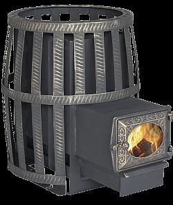 Дровяная банная печь Березка Корвет 24 стекло сетч. кожух
