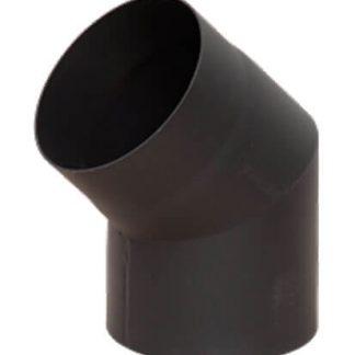 Отвод 45* Ф120 2мм КПД черный