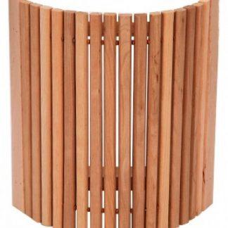 Абажур угловой с узкими рейками из ольхи для бани и сауны.