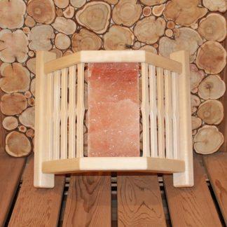 Абажур угловой фигурный гималайская соль 3 плитки (Дуб)