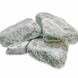 Камни для бани Серпентинит обвалованный ведро 10кг