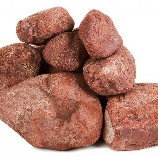 Камни для бани Яшма сургучная шлифованный ведро 10кг