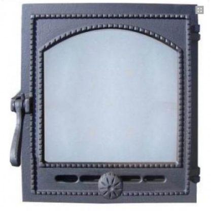 Дверка топочная гермет.ДТГ-8С (Р) Онего краш. со стеклом 295х325