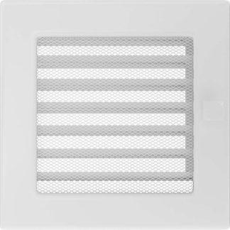 Решетка вентиляционная Белая с жалюзи 17х17